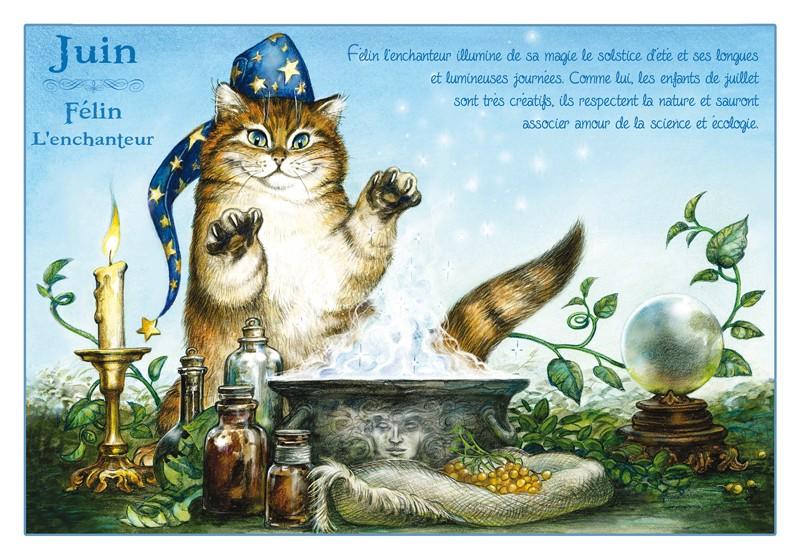 Bien connu Carte Postale Severine Pineaux Chat Juin Félin l'Enchanteur CPK086 UW72