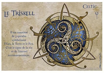 Carte Postale Triskell