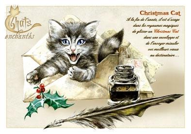 Image du jour / et belles images . Carte_severine_pineaux_decembre_-_chat_christmas_cat_-_cpk030_prd