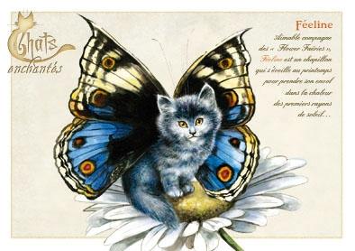 Image du jour / et belles images . Carte_severine_pineaux_juin_-_chat_feeline_-_cpk024_prd