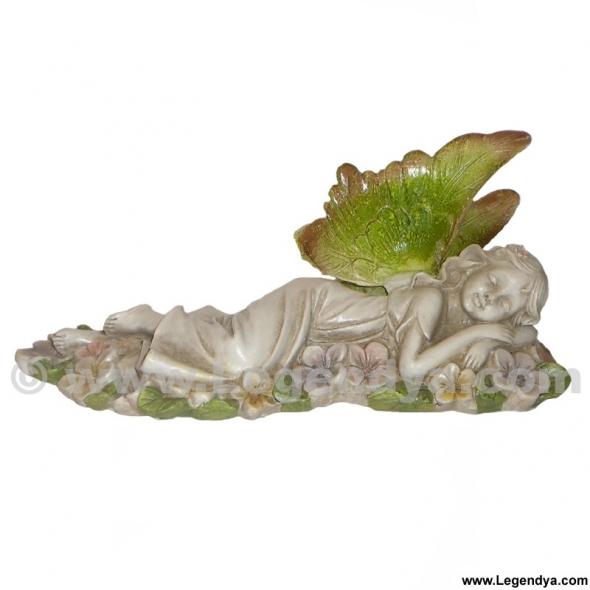 Figurine f e de jardin endormie boutique f es et f erie legendya - Jardin de fee ...