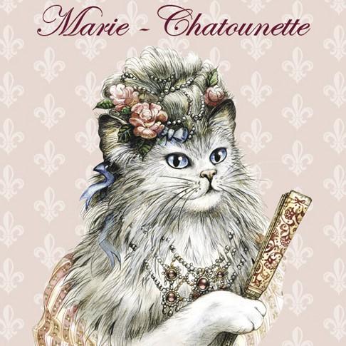 magnet chat s verine pineaux marie chatounette mak004. Black Bedroom Furniture Sets. Home Design Ideas